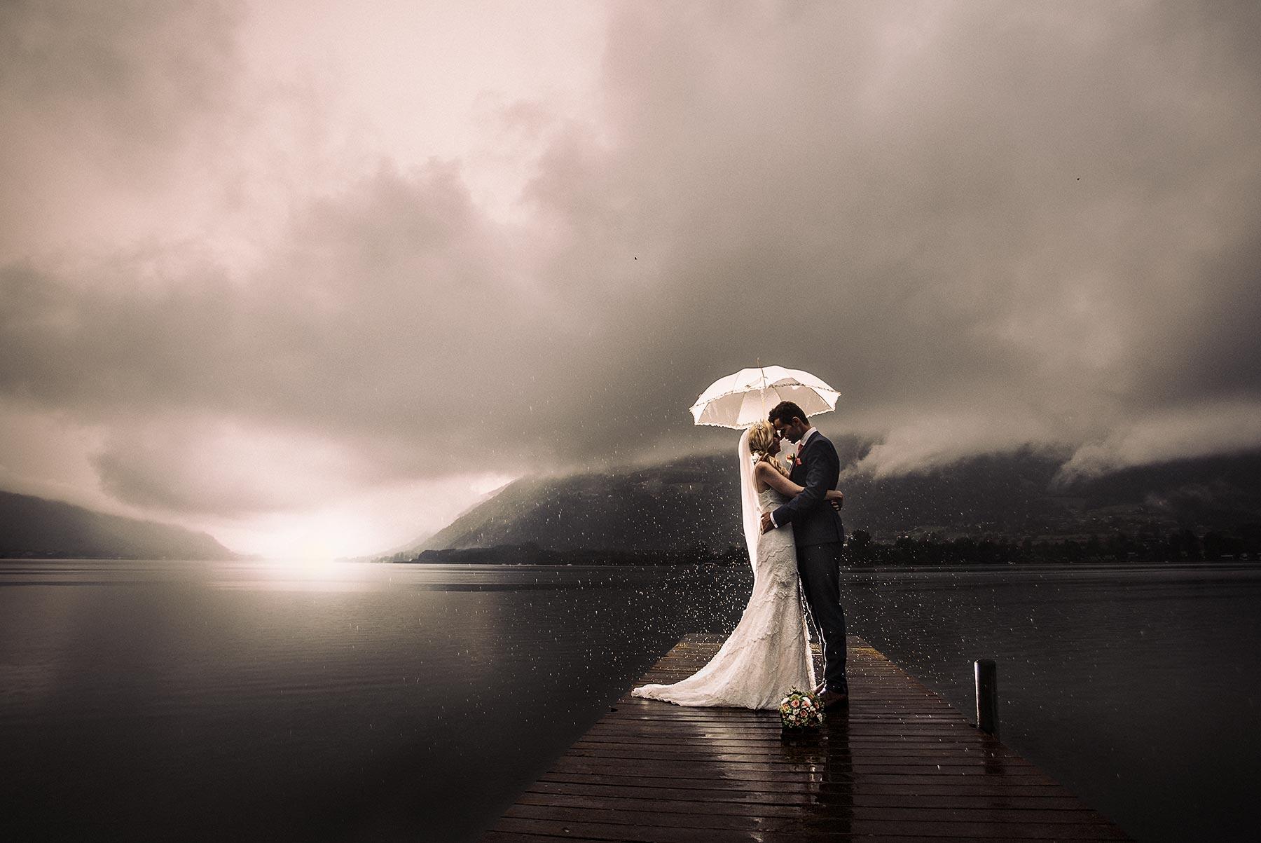 Regen am Hochzeitstag - Hochzeit am Ossiacher See