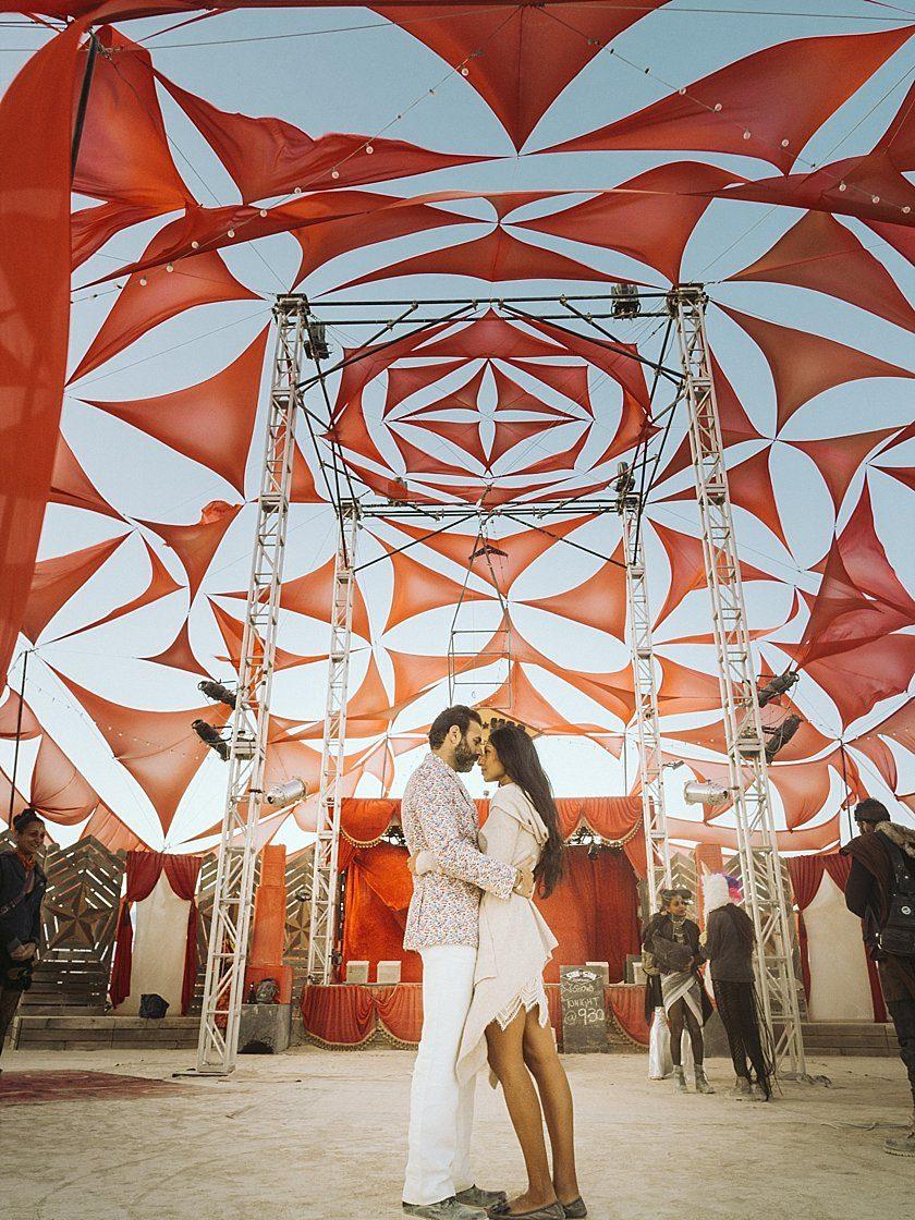 Avni & Pavan, an Indian inspired International Wedding at Burningman