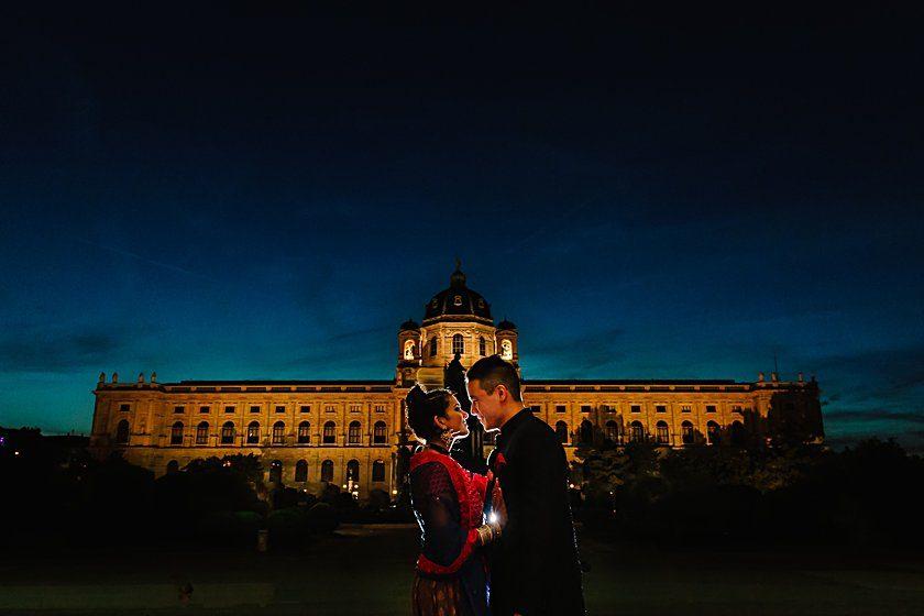 Aditi und Jeff im Kursalon Wien und im kunsthistorischen Museum Wien